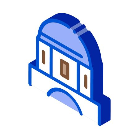 classical greek building dome icon vector. isometric classical greek building dome sign. color isolated symbol illustration