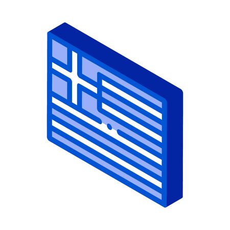 flag of greece icon vector. isometric flag of greece sign. color isolated symbol illustration