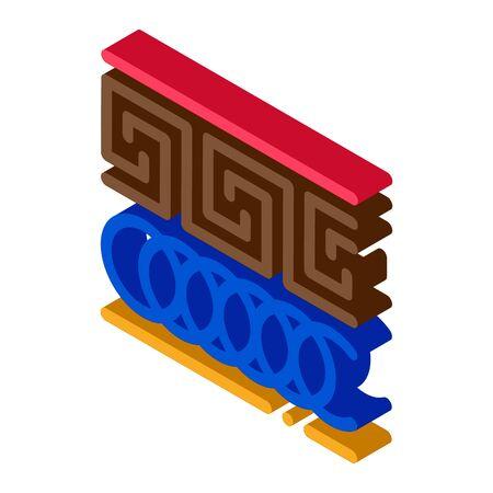 greek ornament icon vector. isometric greek ornament sign. color isolated symbol illustration Ilustração