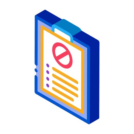 written protest requests icon vector. isometric written protest requests sign. color isolated symbol illustration