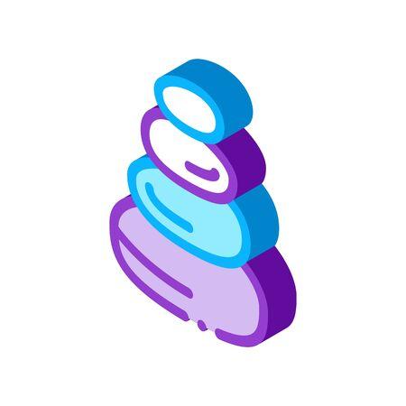 Stones Balance Icon Vector. Isometric Stones Balance Sign. Color Isolated Symbol Illustration Stock Illustratie