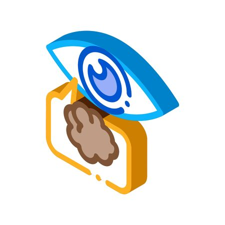 Poor Eyesight Icon Vector. Isometric Poor Eyesight Sign. Color Isolated Symbol Illustration