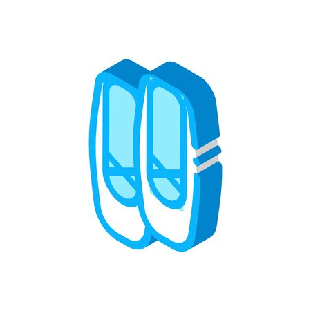 Replaceable Ballet Shoes Icon Vector. Isometric Replaceable Ballet Shoes Sign. Color Isolated Symbol Illustration 向量圖像