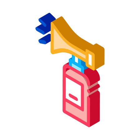 Fire Extinguisher Icon Vector. Isometric Fire Extinguisher Sign. Color Isolated Symbol Illustration