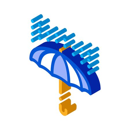 rain umbrella icon vector. isometric rain umbrella sign. color isolated symbol illustration Stock Illustratie