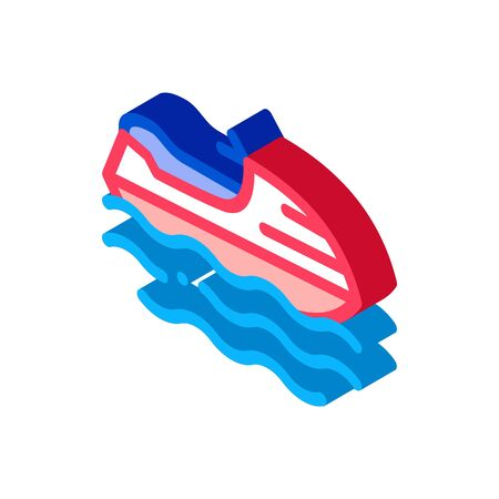 Powerboat Icon Vector. Isometric Powerboat sign. color isolated symbol illustration