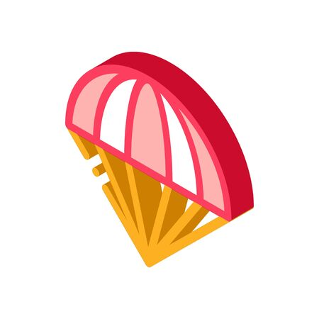 Parachute Icon Vector. Isometric Parachute sign. color isolated symbol illustration Vectores