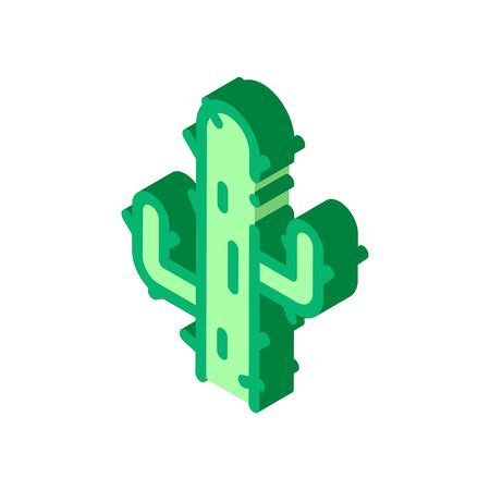 Cactus Icon Vector. Isometric Cactus sign. color isolated symbol illustration 写真素材 - 148868469