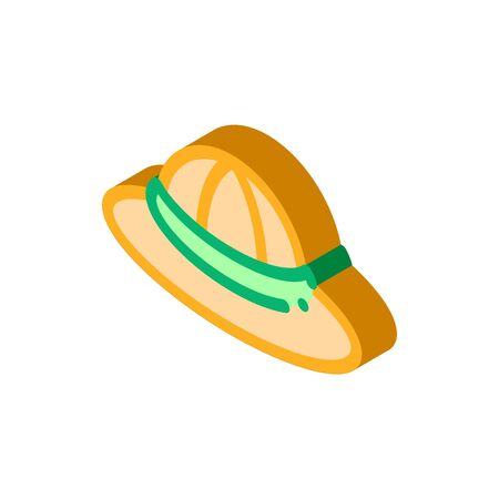 Sun Hat Icon Vector. Isometric Sun Hat sign. color isolated symbol illustration 写真素材 - 148868471