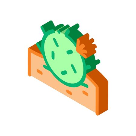 Cactus Icon Vector. Isometric Cactus sign. color isolated symbol illustration 写真素材 - 148869040
