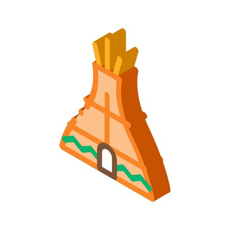 Wigwam Icon Vector. Isometric Wigwam sign. color isolated symbol illustration  イラスト・ベクター素材