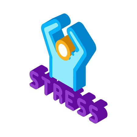 Stress Human Icon Vector. Isometric Stress Human isometric sign. color isolated symbol illustration 矢量图像