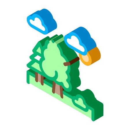 Diverse Forest Icon Vector. Isometric Diverse Forest sign. color isolated symbol illustration