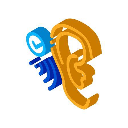 Good Hearing Perception Icon Vector. Isometric Good Hearing Perception sign. color isolated symbol illustration