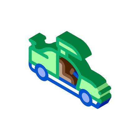 Car Door Tuning Icon Vector. Isometric Car Door Tuning sign. color isolated symbol illustration