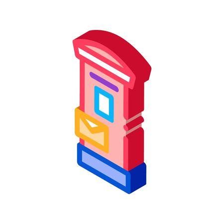 post machine icon vector. isometric post machine sign. color isolated symbol illustration Illustration