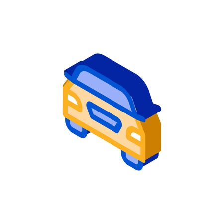 Van Bus Icon Vector. Isometric Van Bus sign. color isolated symbol illustration
