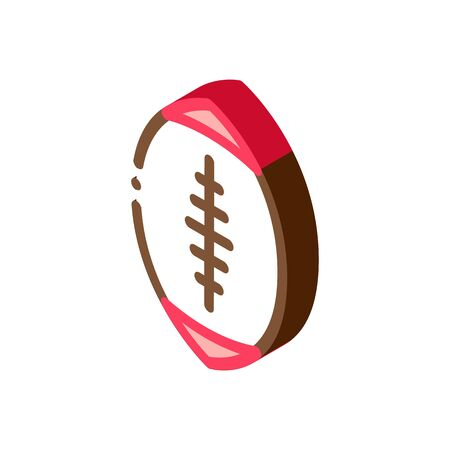 Rugby Ball Icon Vector. Isometric Rugby Ball sign. color isolated symbol illustration