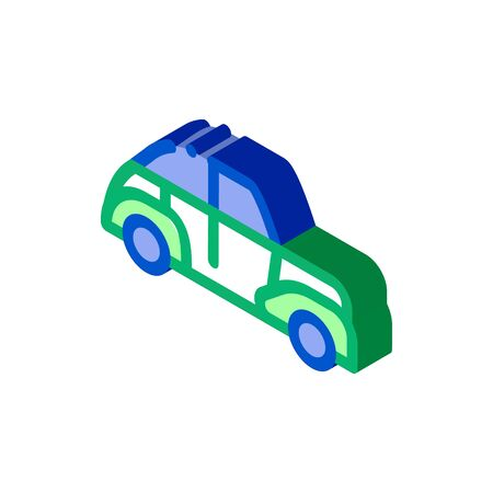 Classical Car Icon Vector. Isometric Classical Car sign. color isolated symbol illustration