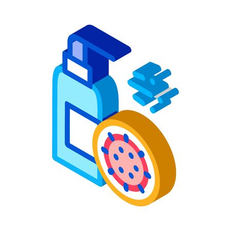 Healthcare Spray Icon Vector. Isometric Healthcare Spray sign. color isolated symbol illustration