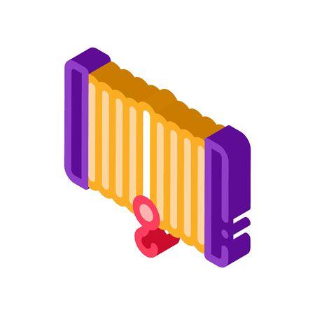 Winch Equipment Icon Vector. Isometric Winch Equipment sign. color isolated symbol illustration Ilustración de vector