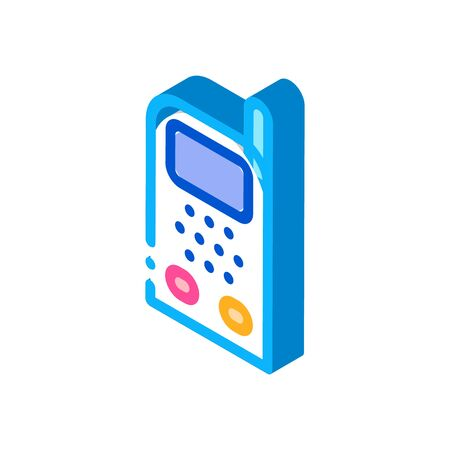 Baby Monitor Icon Vector. Isometric Baby Monitor sign. color isolated symbol illustration