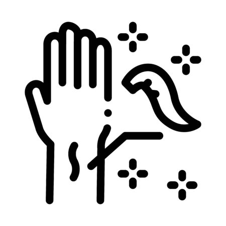 application of leeches on arm icon vector. application of leeches on arm sign. isolated contour symbol illustration