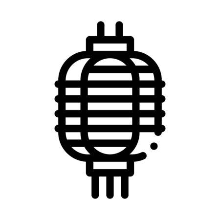 chinese lantern icon vector. chinese lantern sign. isolated contour symbol illustration  イラスト・ベクター素材