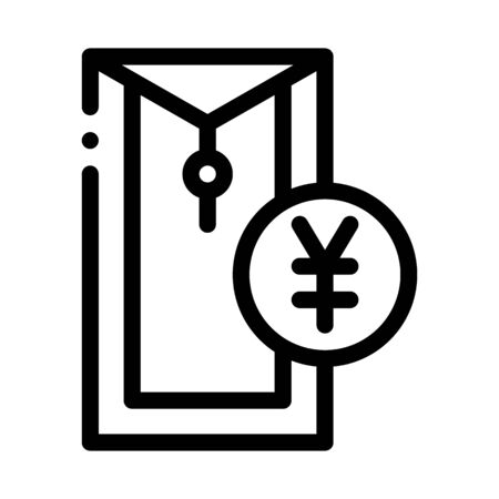 chinese thing for currency icon vector. chinese thing for currency sign. isolated contour symbol illustration
