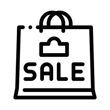 sale paper bag icon vector. sale paper bag sign. isolated contour symbol illustration