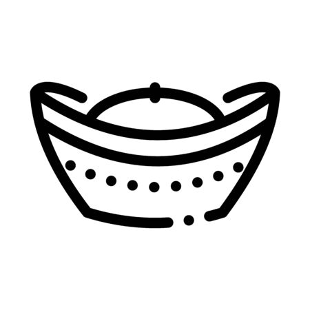 hat with top curled up icon vector. hat with top curled up sign. isolated contour symbol illustration  イラスト・ベクター素材