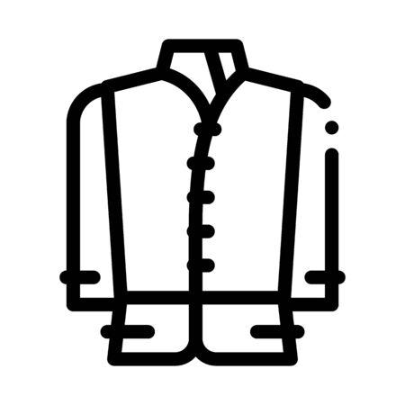 kind of national men costume icon vector. kind of national men costume sign. isolated contour symbol illustration  イラスト・ベクター素材