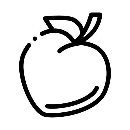 heart shaped fruit icon vector. heart shaped fruit sign. isolated contour symbol illustration