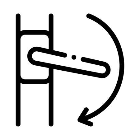 push handle to open window closure icon vector. push handle to open window closure sign. isolated contour symbol illustration
