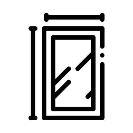 window dimensions icon vector. window dimensions sign. isolated contour symbol illustration 向量圖像