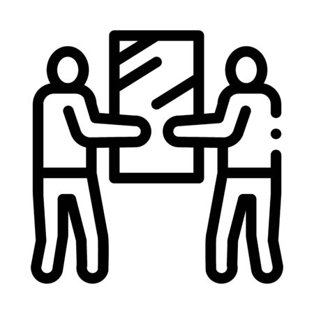 people holding glass icon vector. people holding glass sign. isolated contour symbol illustration