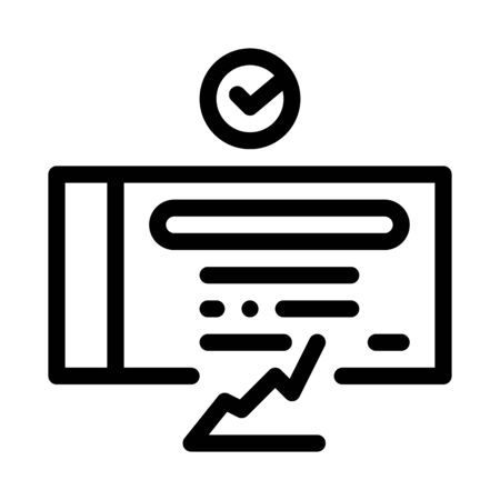 confirmed document chart icon vector. confirmed document chart sign. isolated contour symbol illustration