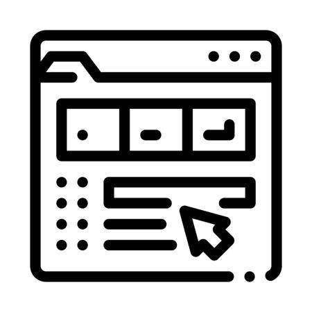 maker information folder icon vector. maker information folder sign. isolated contour symbol illustration