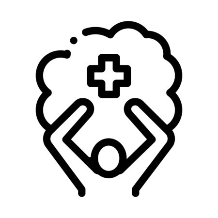 mentally healthy person icon vector. mentally healthy person sign. isolated contour symbol illustration Vector Illustratie