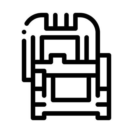 protective case window glass icon vector. protective case window glass sign. isolated contour symbol illustration