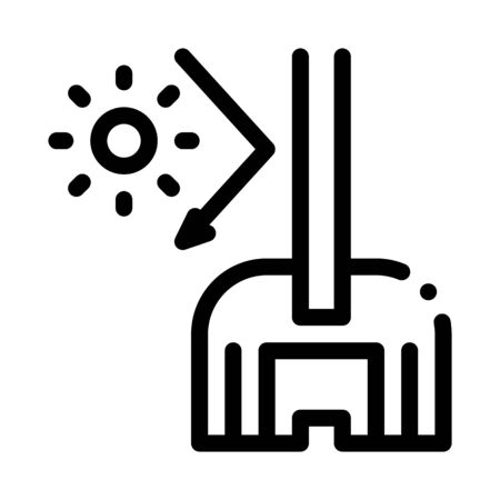 sun glass window icon vector. sun glass window sign. isolated contour symbol illustration