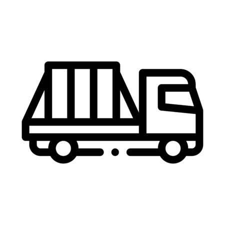 glass transportation truck icon vector. glass transportation truck sign. isolated contour symbol illustration
