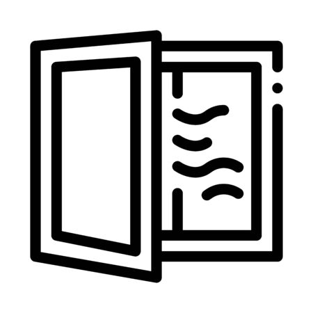 draft in window icon vector. draft in window sign. isolated contour symbol illustration 向量圖像