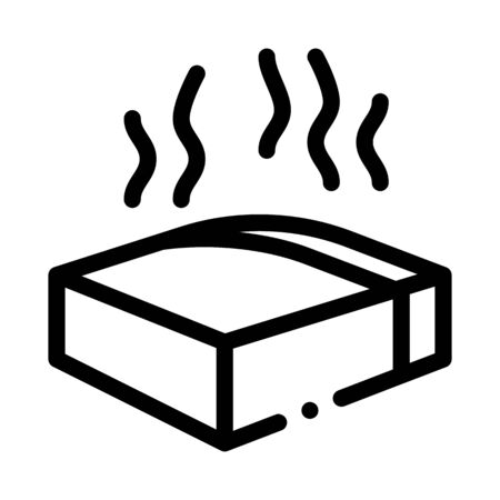 melt piece of cheese icon vector. melt piece of cheese sign. isolated contour symbol illustration 向量圖像
