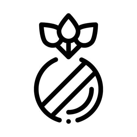 organic herbal pills icon vector. organic herbal pills sign. isolated contour symbol illustration Illustration