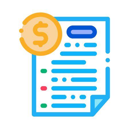 monetary agreement icon vector. monetary agreement sign. color symbol illustration Vektoros illusztráció