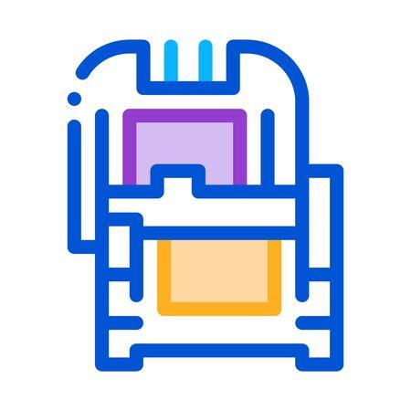 protective case window glass icon vector. protective case window glass sign. color symbol illustration Vettoriali