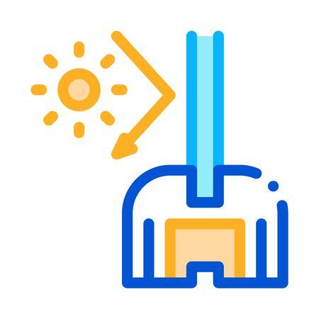 sun glass window icon vector. sun glass window sign. color symbol illustration 向量圖像