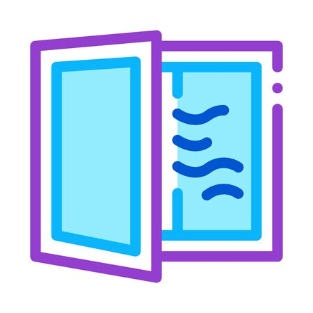 draft in window icon vector. draft in window sign. color symbol illustration 向量圖像