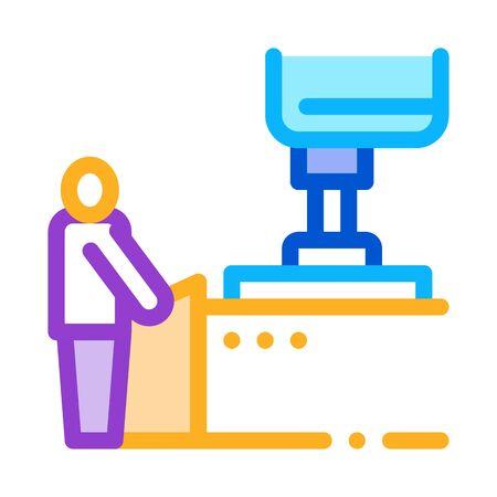 glass making icon vector. glass making sign. color symbol illustration 向量圖像